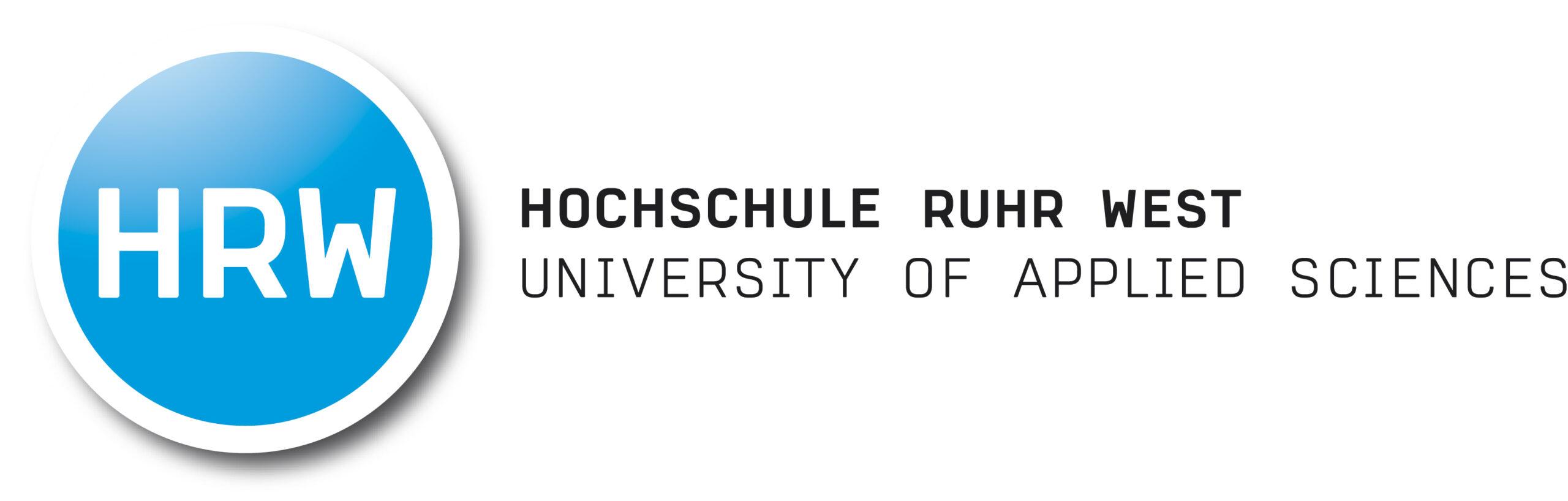 Zu sehen ist das Logo der Hochschule Ruhr West.