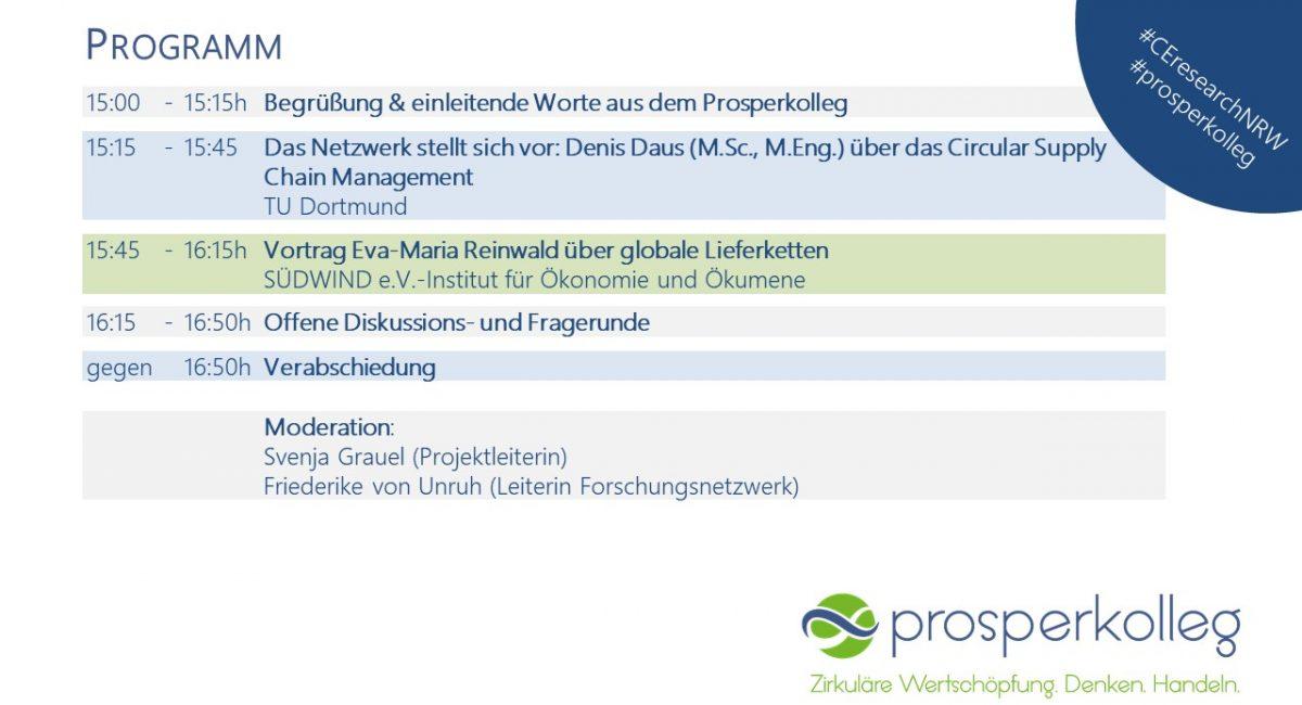 Virtuelles Forschungsnetzwerk Web-Seminar Lieferkette